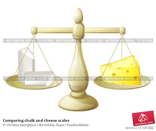 Купить «Comparing chalk and cheese scales», иллюстрация № 11137502 (c) PantherMedia / Фотобанк Лори