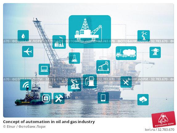 Купить «Concept of automation in oil and gas industry», фото № 32783670, снято 25 мая 2020 г. (c) Elnur / Фотобанк Лори