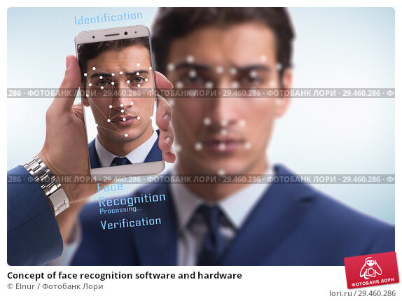 Купить «Concept of face recognition software and hardware», фото № 29460286, снято 23 марта 2020 г. (c) Elnur / Фотобанк Лори