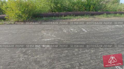 Concrete road with ash. Стоковое видео, видеограф Потийко Сергей / Фотобанк Лори