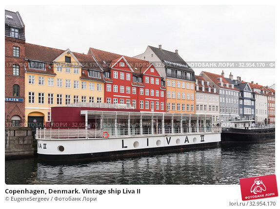 Copenhagen, Denmark. Vintage ship Liva II (2017 год). Редакционное фото, фотограф EugeneSergeev / Фотобанк Лори