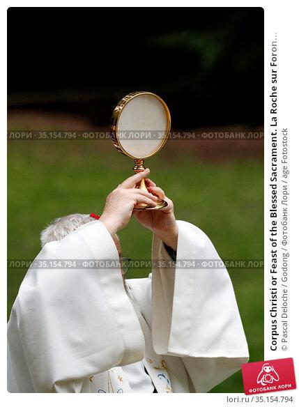 Corpus Christi or Feast of the Blessed Sacrament. La Roche sur Foron... Стоковое фото, фотограф Pascal Deloche / Godong / age Fotostock / Фотобанк Лори