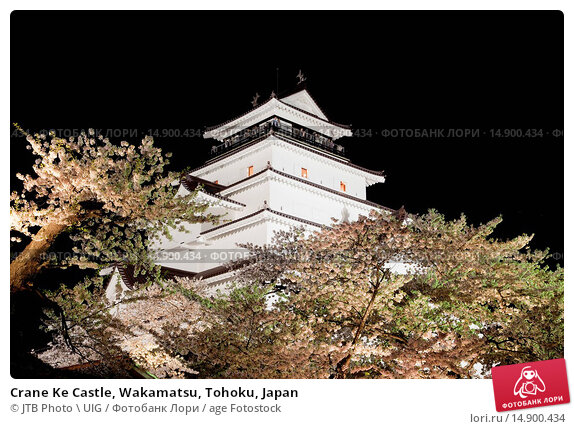 Купить «Crane Ke Castle, Wakamatsu, Tohoku, Japan», фото № 14900434, снято 21 июня 2018 г. (c) age Fotostock / Фотобанк Лори