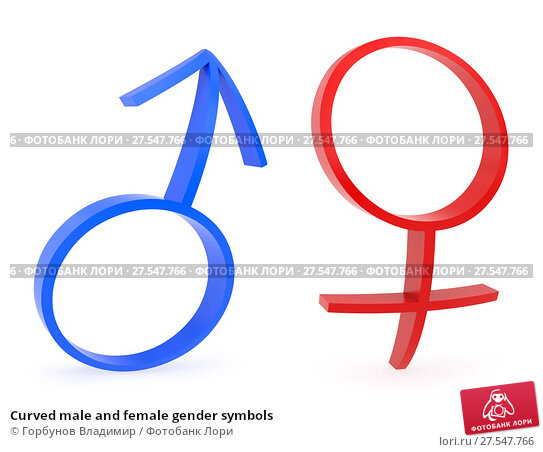 Curved Male And Female Gender Symbols 27547766