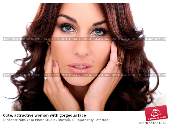 Cute, attractive woman with gorgeous face. Стоковое фото, фотограф Zoonar.com/Yeko Photo Studio / easy Fotostock / Фотобанк Лори