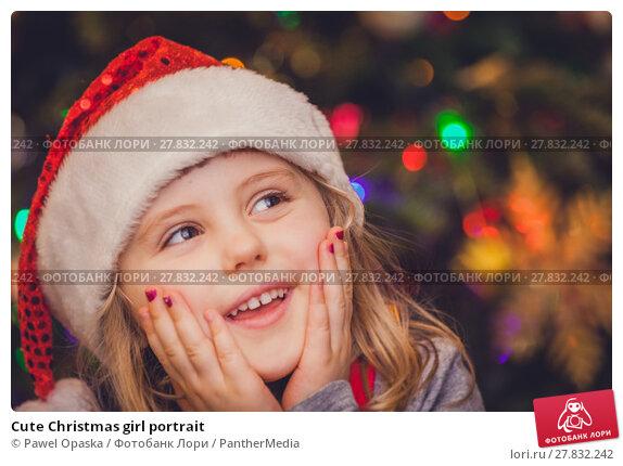 Купить «Cute Christmas girl portrait», фото № 27832242, снято 20 октября 2018 г. (c) PantherMedia / Фотобанк Лори