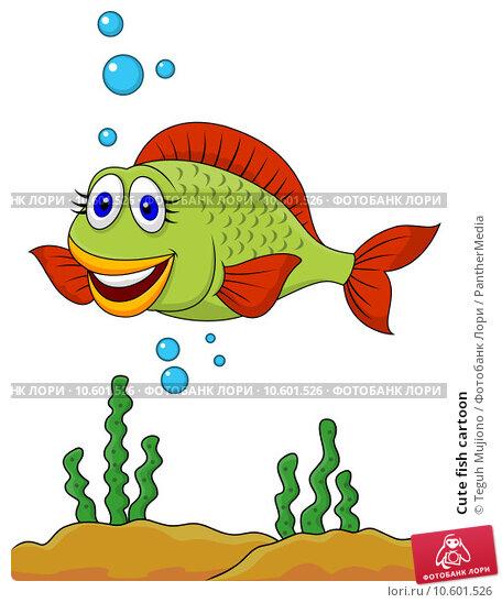 Cute fish cartoon. Стоковое фото, фотограф Teguh Mujiono / PantherMedia / Фотобанк Лори