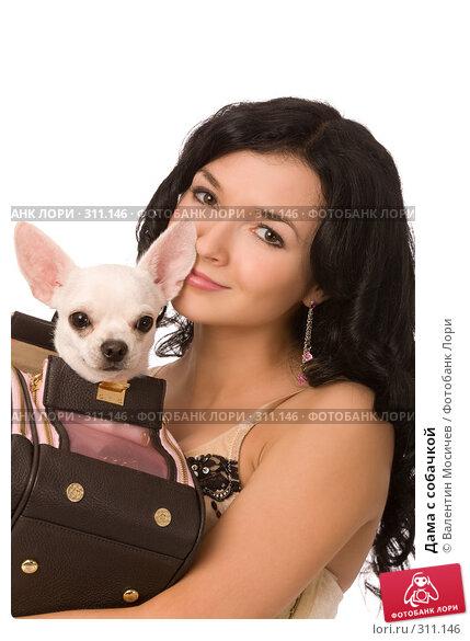 Купить «Дама с собачкой», фото № 311146, снято 12 апреля 2008 г. (c) Валентин Мосичев / Фотобанк Лори