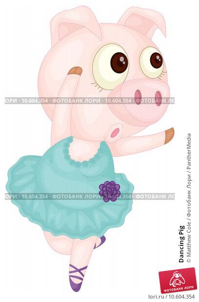 Dancing Pig. Стоковая иллюстрация, иллюстратор Matthew Cole / PantherMedia / Фотобанк Лори