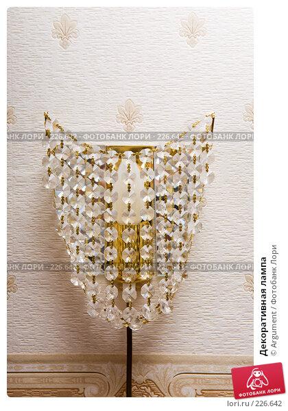 Декоративная лампа, фото № 226642, снято 29 февраля 2008 г. (c) Argument / Фотобанк Лори