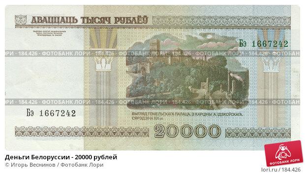 Деньги Белоруссии - 20000 рублей, фото № 184426, снято 19 января 2017 г. (c) Игорь Веснинов / Фотобанк Лори