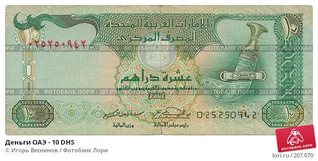 Деньги ОАЭ - 10 DHS, фото № 207070, снято 23 мая 2017 г. (c) Игорь Веснинов / Фотобанк Лори
