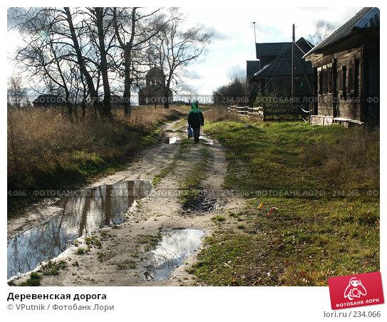 Деревенская дорога, фото № 234066, снято 28 октября 2004 г. (c) VPutnik / Фотобанк Лори