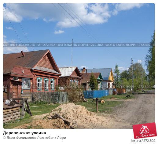 Деревенская улочка, фото № 272302, снято 1 мая 2008 г. (c) Яков Филимонов / Фотобанк Лори