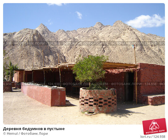 Деревня бедуинов в пустыне, фото № 124938, снято 1 марта 2007 г. (c) Hemul / Фотобанк Лори
