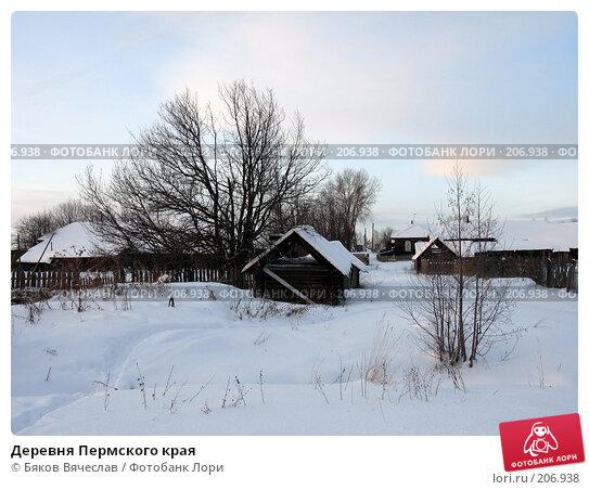 Деревня Пермского края, фото № 206938, снято 3 января 2008 г. (c) Бяков Вячеслав / Фотобанк Лори