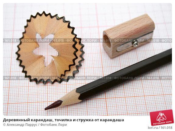 Купить «Деревянный карандаш, точилка и стружка от карандаша», фото № 161018, снято 9 октября 2006 г. (c) Александр Паррус / Фотобанк Лори
