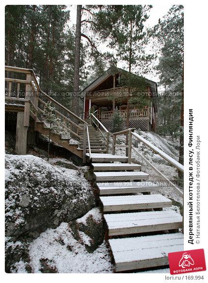 Деревянный коттедж в лесу, Финляндия, фото № 169994, снято 31 декабря 2007 г. (c) Наталья Белотелова / Фотобанк Лори