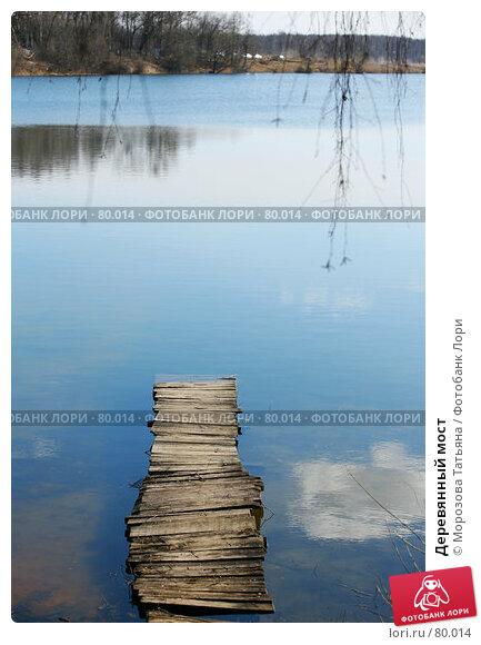 Деревянный мост, фото № 80014, снято 1 апреля 2007 г. (c) Морозова Татьяна / Фотобанк Лори