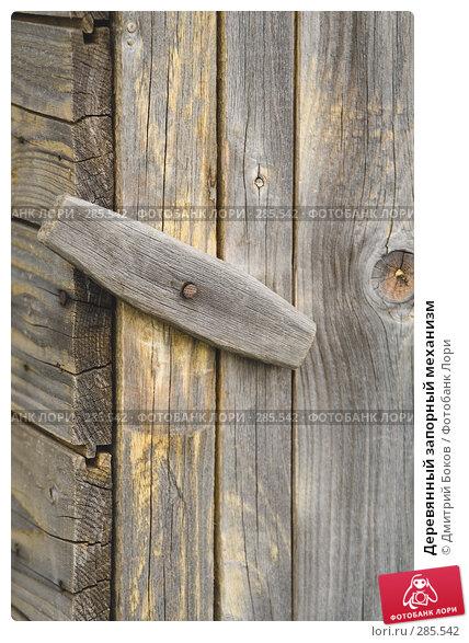 Деревянный запорный механизм, фото № 285542, снято 9 мая 2008 г. (c) Дмитрий Боков / Фотобанк Лори