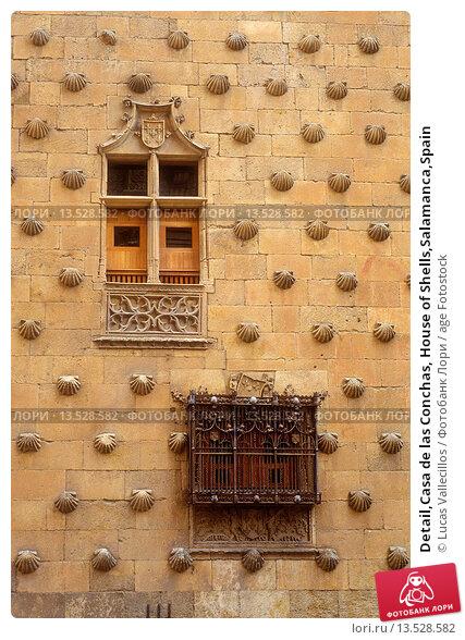 Купить «Detail,Casa de las Conchas, House of Shells,Salamanca,Spain», фото № 13528582, снято 18 июня 2019 г. (c) age Fotostock / Фотобанк Лори