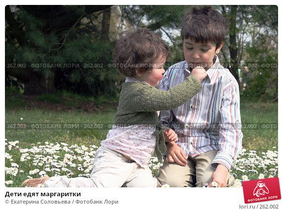 Дети едят маргаритки, фото № 262002, снято 24 апреля 2008 г. (c) Екатерина Соловьева / Фотобанк Лори
