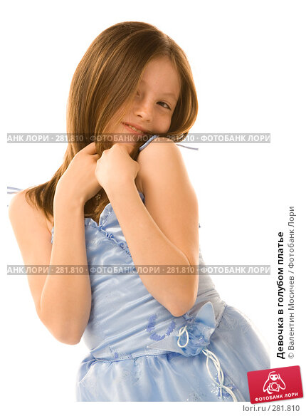 Девочка в голубом платье, фото № 281810, снято 2 мая 2008 г. (c) Валентин Мосичев / Фотобанк Лори