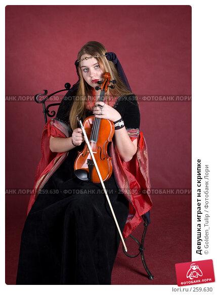 Девушка играет на скрипке, фото № 259630, снято 29 марта 2008 г. (c) Golden_Tulip / Фотобанк Лори