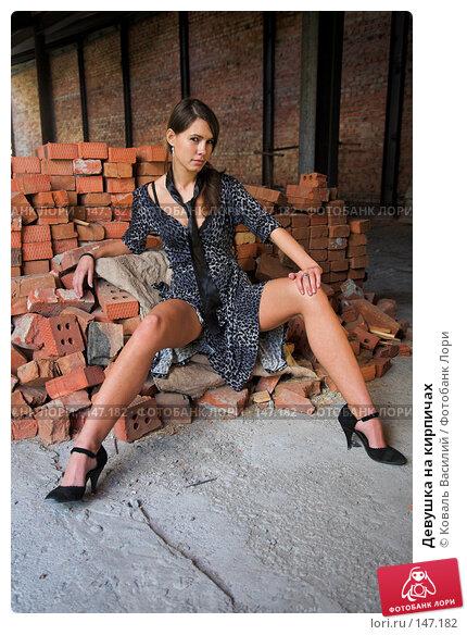 Девушка на кирпичах, фото № 147182, снято 25 августа 2007 г. (c) Коваль Василий / Фотобанк Лори