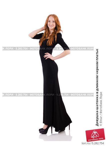 шатенка в черном платье фото