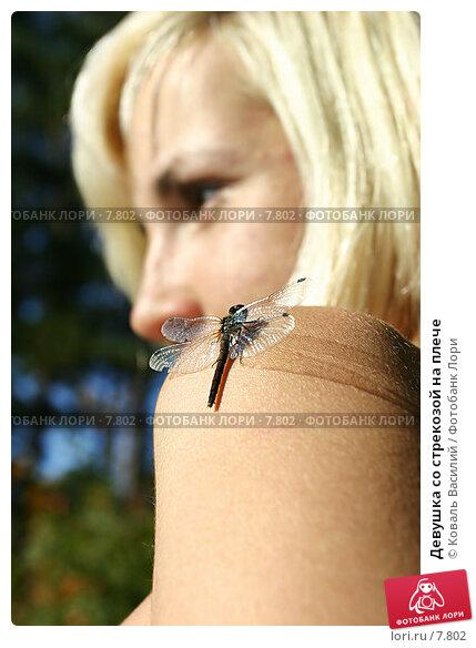 Девушка со стрекозой на плече, фото № 7802, снято 18 сентября 2005 г. (c) Коваль Василий / Фотобанк Лори