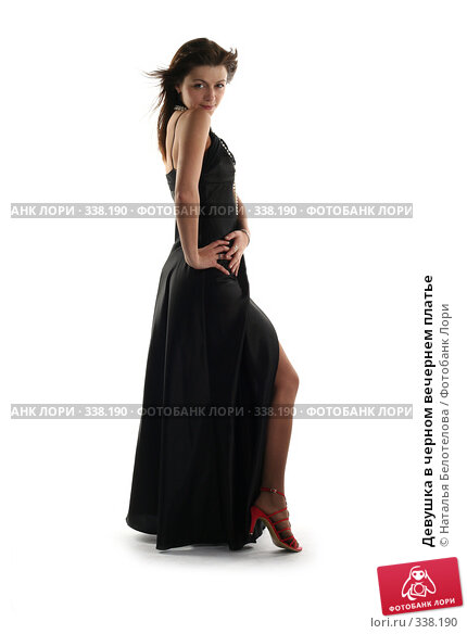 Девушка в черном вечернем платье, фото № 338190, снято 31 мая 2008 г. (c) Наталья Белотелова / Фотобанк Лори