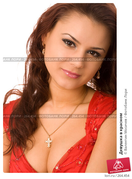 Девушка в красном, фото № 264454, снято 13 апреля 2008 г. (c) Валентин Мосичев / Фотобанк Лори