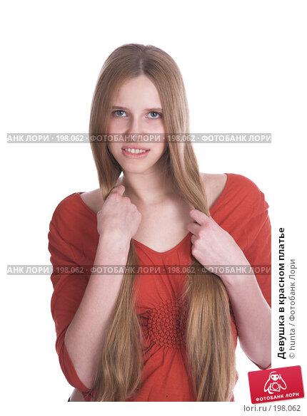 Девушка в красном платье, фото № 198062, снято 26 ноября 2007 г. (c) hunta / Фотобанк Лори