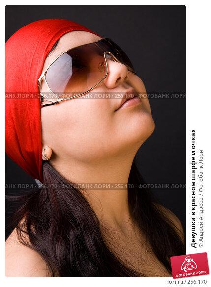 Девушка в красном шарфе и очках, фото № 256170, снято 5 апреля 2008 г. (c) Андрей Андреев / Фотобанк Лори