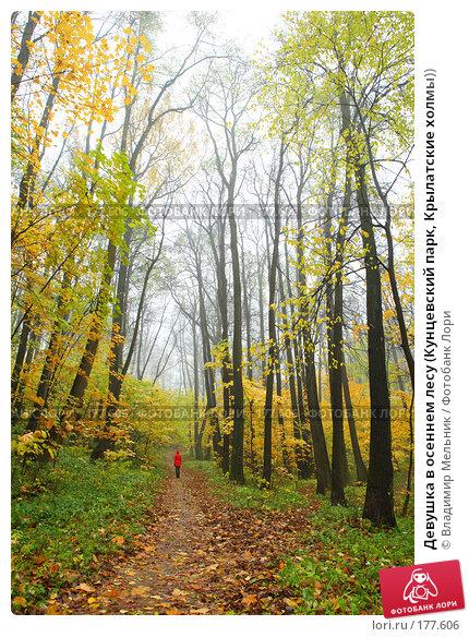 Девушка в осеннем лесу (Кунцевский парк, Крылатские холмы)), фото № 177606, снято 20 октября 2007 г. (c) Владимир Мельник / Фотобанк Лори