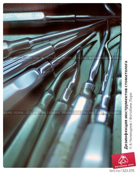 Дезинфекция инструментов стоматолога, фото № 323370, снято 24 февраля 2007 г. (c) A Челмодеев / Фотобанк Лори