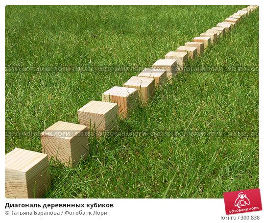 Диагональ деревянных кубиков, фото № 300838, снято 17 мая 2008 г. (c) Татьяна Баранова / Фотобанк Лори