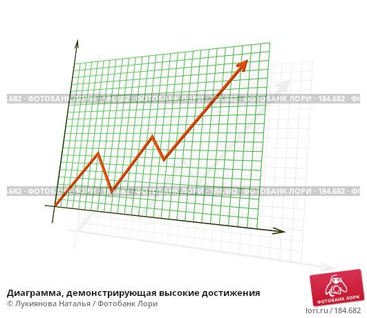 Диаграмма, демонстрирующая высокие достижения, иллюстрация № 184682 (c) Лукиянова Наталья / Фотобанк Лори