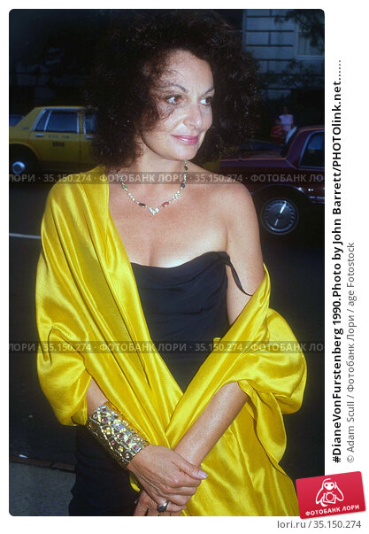 #DianeVonFurstenberg 1990.Photo by John Barrett/PHOTOlink.net...... Редакционное фото, фотограф Adam Scull / age Fotostock / Фотобанк Лори