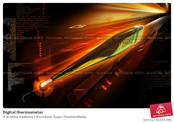 Digital thermometer. Стоковое фото, фотограф krishna creations / PantherMedia / Фотобанк Лори
