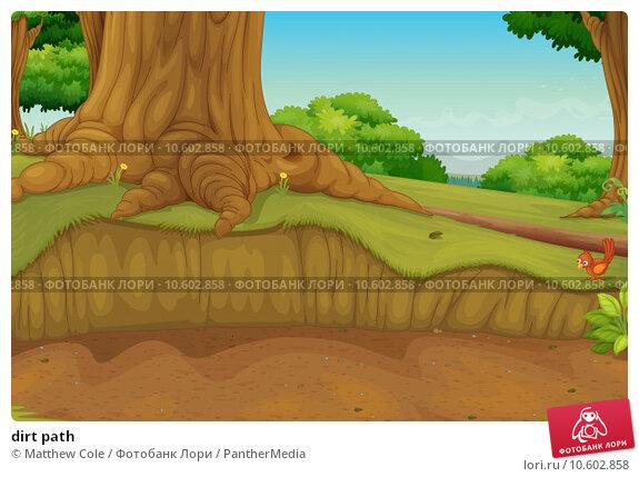 dirt path. Стоковая иллюстрация, иллюстратор Matthew Cole / PantherMedia / Фотобанк Лори