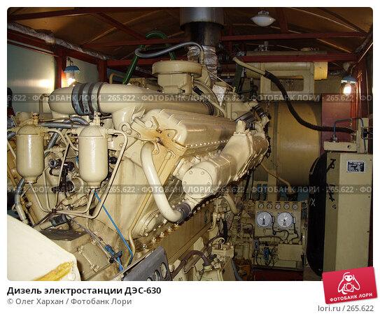 Купить «Дизель электростанции ДЭС-630», фото № 265622, снято 28 марта 2008 г. (c) Олег Хархан / Фотобанк Лори
