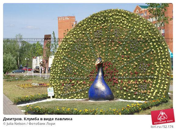 Дмитров. Клумба в виде павлина, фото № 52174, снято 12 июня 2007 г. (c) Julia Nelson / Фотобанк Лори