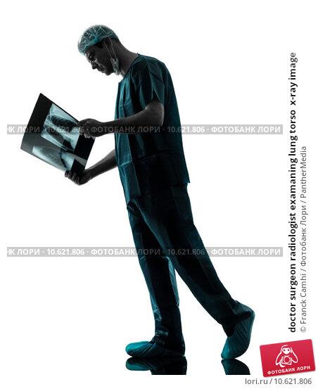 doctor surgeon radiologist examaning lung torso  x-ray image. Стоковое фото, фотограф Franck Camhi / PantherMedia / Фотобанк Лори