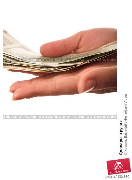 Купить «Доллары в руках», фото № 132350, снято 21 декабря 2006 г. (c) Коваль Василий / Фотобанк Лори