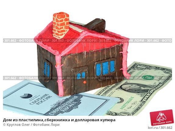 Купить «Дом из пластилина,сберкнижка и долларовая купюра», фото № 301662, снято 27 мая 2008 г. (c) Круглов Олег / Фотобанк Лори