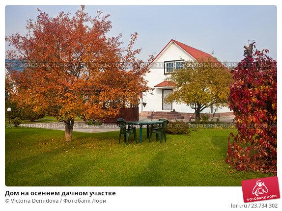 Купить «Дом на осеннем дачном участке», фото № 23734302, снято 3 октября 2016 г. (c) Victoria Demidova / Фотобанк Лори