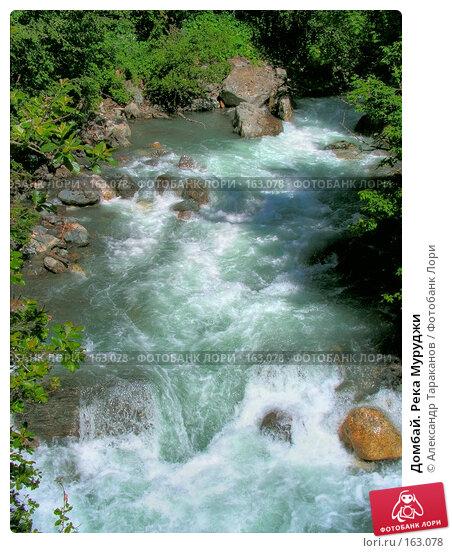 Домбай. Река Муруджи, эксклюзивное фото № 163078, снято 26 июля 2017 г. (c) Александр Тараканов / Фотобанк Лори