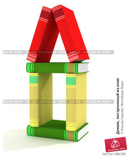 Купить «Домик, построенный из книг», иллюстрация № 248102 (c) Ильин Сергей / Фотобанк Лори
